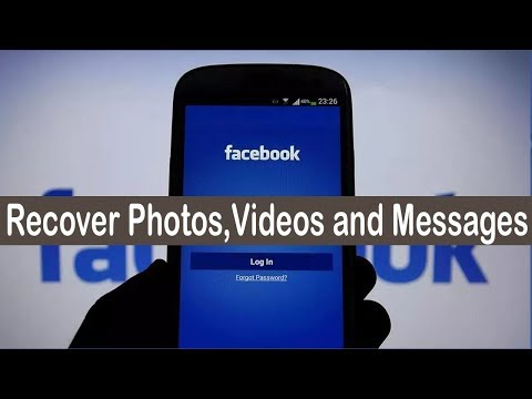 How to Recover Deleted Photos,Videos,and Messages from Facebook