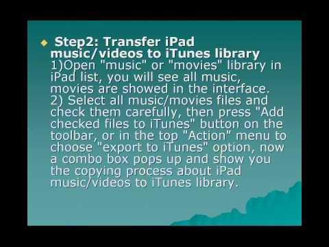 How to transfer iPad music/videos to iPad on Mac