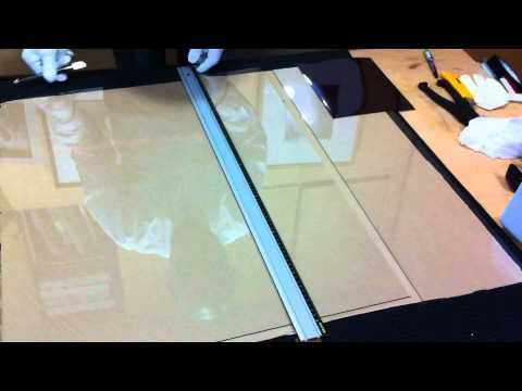 Cut the Big Glass plate for 8x10 wet plate