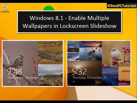Windows 8.1 -Multiple Pictures in Lockscreen Slideshow