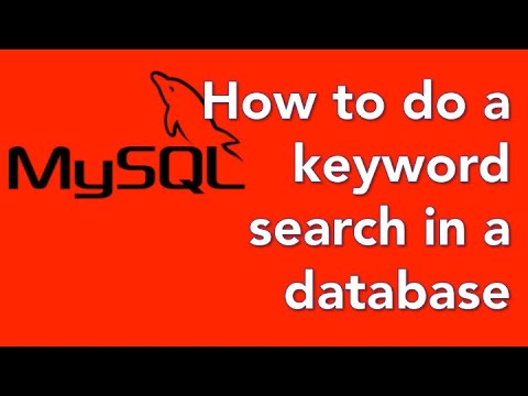 How to create a database website with PHP and mySQL 05 - search for keywords
