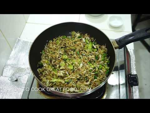 How to Cook Broccoli Fried Rice Video Recipe