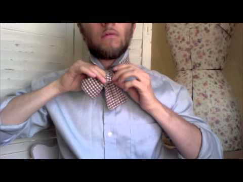 How to tie a bow tie - Instructional