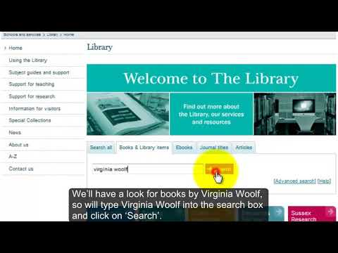 How to find books using Library Search