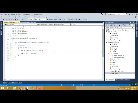 Entity Framework with ASP .NET MVC Application using Web API - Part 1