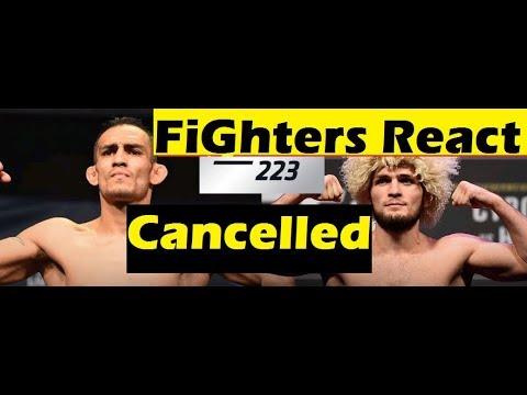 Khabib vs Tony Cancelled | MMA Community Reacts