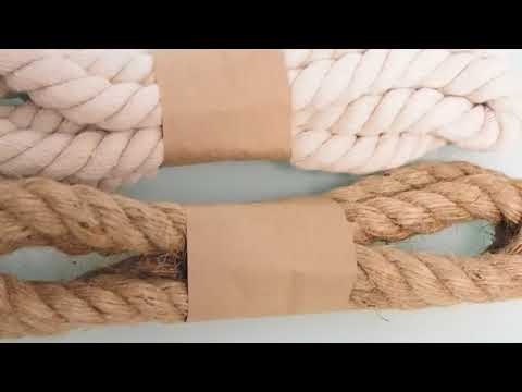 Thick Jute Burlap Rope / Cotton Rope Decorative Curtain Tie Bow