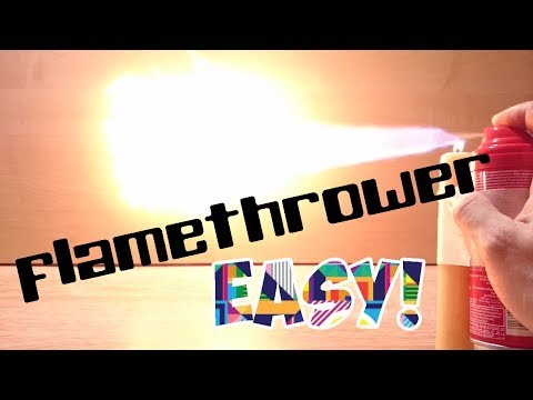 How to make a simple flamethrower 🔥🔥🔥