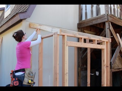 Building a Lean To - Framing and Adding Siding (Part 1)