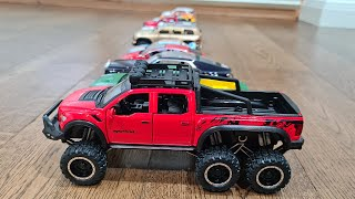Various Model Cars Being Pushed Away on the Floor 4k video