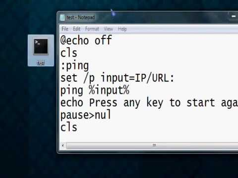 Batch | How to make a program that automaticly pings an IP/URL