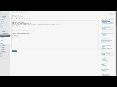 Where to put google analytics code in wordpress - Screen Cast