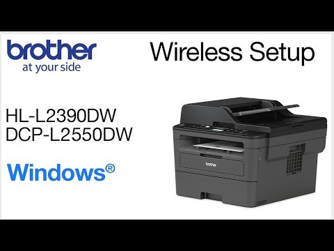 Connect DCPL2550DW to a wireless computer - Windows