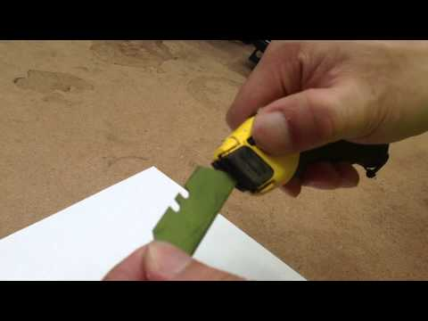 how to change blade on Stanley Fatmax 10-778 knife