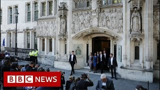 Historic Supreme Court hearing on suspension of parliament - BBC News