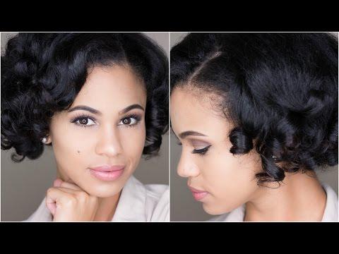 Natural Hair: Heatless Satin Roller Set