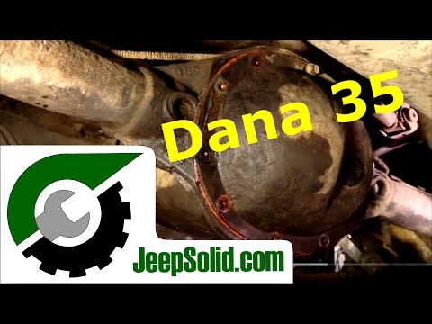 Differential fluid change: Jeep wrangler Dana 35 differential fluid