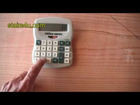 Using Calculator To Figure Stair Rise - Staircase Construction Tips