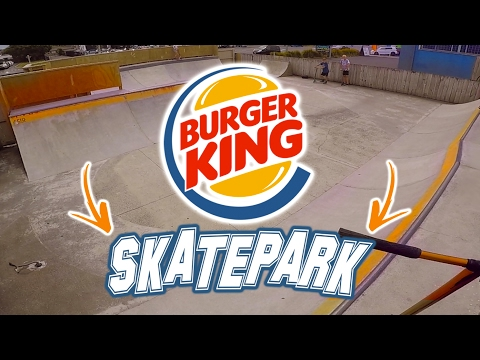 SKATE PARK INSIDE BURGER KING?!