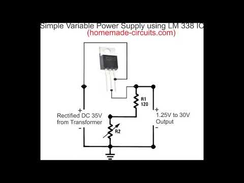 How to Make a Simple Variable Power Supply using IC LM338