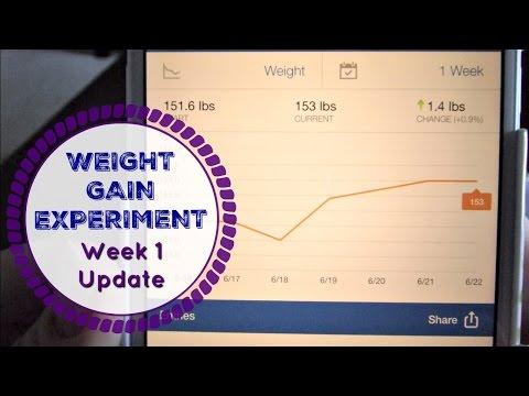 WEIGHT GAIN EXPERIMENT | increasing calories | week 1 update