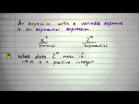 6.1.1 - Exponential Expressions