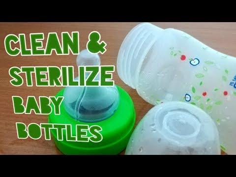 बच्चों की फीडिंग बोतल को कैसे साफ करें।How to clean and sterilize(sanitize) Plastic baby bottles