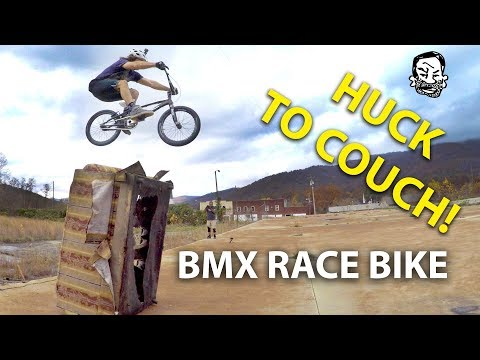 We jumped this couch on a BMX race bike - Featuring Skills with Phil