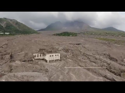 Montserrat Volcano exclusion zone. Drone footage 2016 Sy Skye