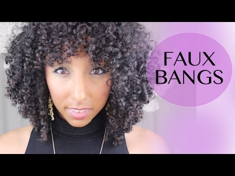 How to Create Faux Bangs for Curly Hair! | BiancaReneeToday