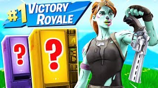 Can I Win using ONLY FREE VENDING MACHINES?  -  Fortnite Challenge