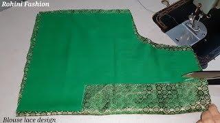 Paithani saree designer back neck blouse| Cutting and