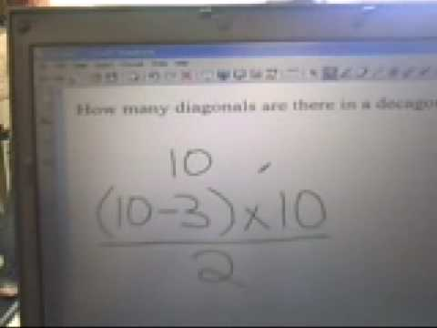 Diagonals in a decagon explanation