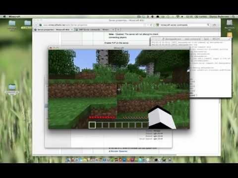 Minecraft server på Mac OS X - server.properties och OP kommando