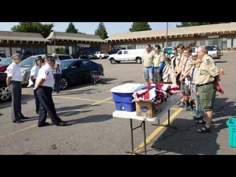 American Legion Flag Burning  Ceremony