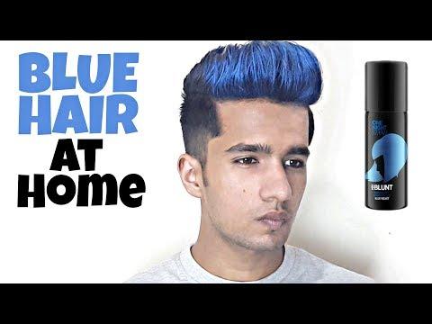 Blue Highlights at Home | Blue hair colour | Bblunt Hair spray