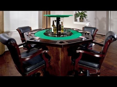 Card Table with a Hidden Bar in the Middle