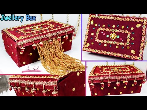 how to make jewelry box at home with waste material  | DIY | artkala