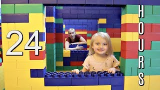 Download 24 Hours in a LEGO FORT MANSION! Video