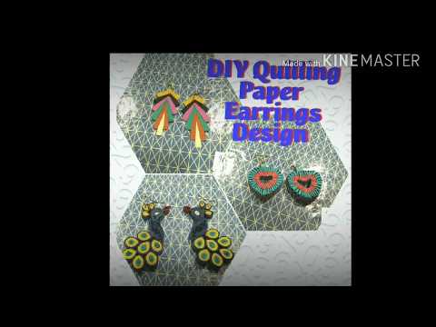 DIY |Quilled Paper Earrings Design Images | Handicrafts | Handmade Jewellery by khushbu singh