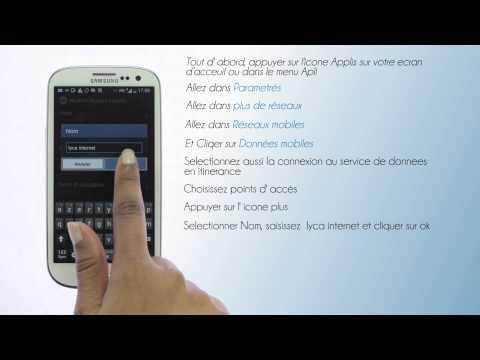 Lycamobile Schweiz - Configuration de l'internet pour Samsung