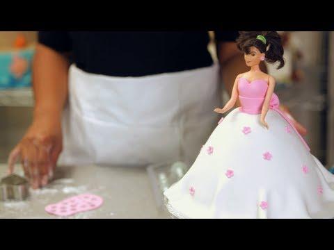 Fondant Flowers for Princess Doll Cake | Birthday Cakes