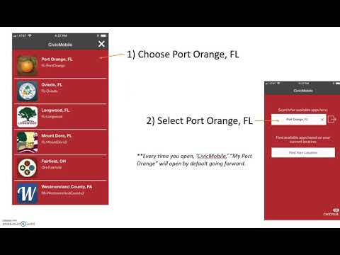 How to Download Port Orange Mobile App on Apple iOS