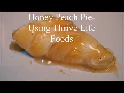 How to Make a Spiced Honey Peach Pie Using Thrive Life Food