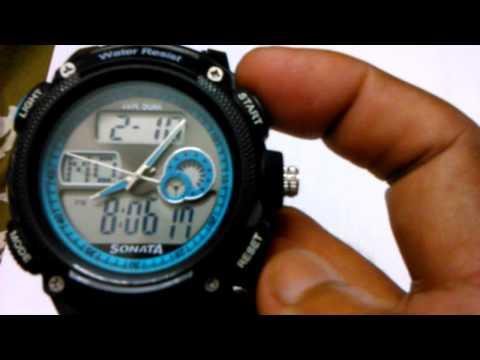 Sonata digital analogue watch