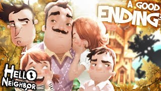 The REAL Neighbor FAMILY & A GOOD ENDING !! | Hello Neighbor [Act 3 End]  Secrets and Easter Eggs - getplaypk