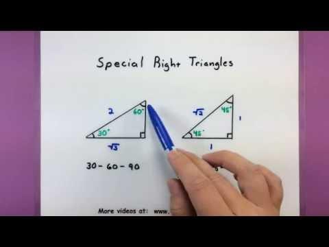 Trigonometry - Special triangles