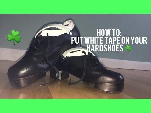 HOW TO: put white tape on your hard shoes