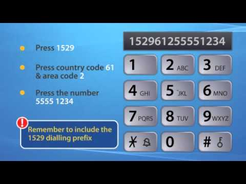 How to use IDT1529 to dial International Call