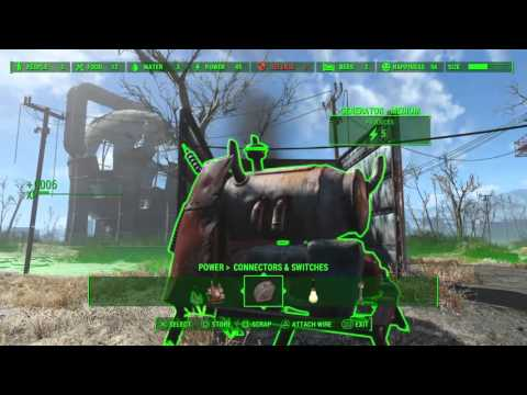 Fallout 4 How to Save Space for Generators, and Never Repair them again!